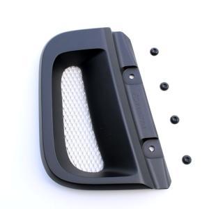 ケンスタイル サイドインレットダクト 日産 NV350キャラバン E26 H24/6- ナロー/ワイド共通 ≪ マットブラック塗装済仕様 ※ネット部はアルミ地シルバー仕様 ≫|rs-online