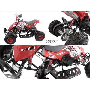 最新前後ディスクブレーキ50ccMINI 四輪バギー最高速度 45km/h赤色トリプルサス仕様(格安消耗部品)