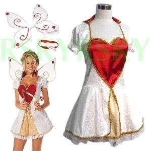 ハロウィン コスプレ 衣装 アリス 妖精 レディース ハート フェアリー ワンピース 3点セット ティンカーベル コスチューム 安い hw000069 rsky