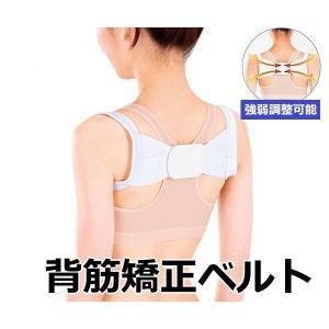 ピーンと背筋ベルト 姿勢 背筋 猫背 腰痛 肩こり 矯正 ベルト 調整可能 背筋サポート 通常タイプ...