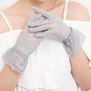 Kingsie レース 手袋 エレガント UVカット 紫外線対策 日焼け止め レディース グローブ 運転 ウエディング 結婚式 成人式 花嫁用品 (グ rtmy-rtmy-rtmy