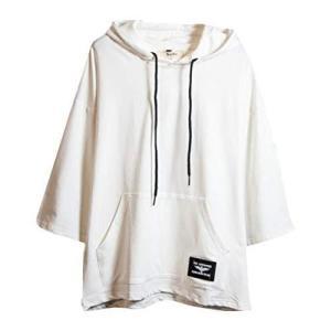 kiden 夏服 Tシャツ メンズ 服 半袖 無地 七分袖 パーカー おしゃれ 大きいサイズ カットソートップス スポーツ フード付き インナー ゆっ rtmy-rtmy-rtmy
