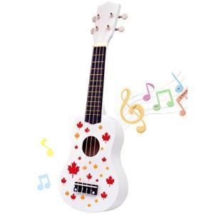 ギター おもちゃ ミニ ウクレレ 4弦 初心者 こども用 UKULELE音楽の楽器玩具 知育玩具 手...