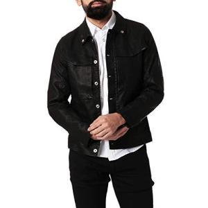 [G-Star RAW ジースターロゥ] アウター ブルゾン メンズ ミリタリー ライダースジャケット 黒 Vodan-R 3D Slim GPL J rtmy-rtmy-rtmy