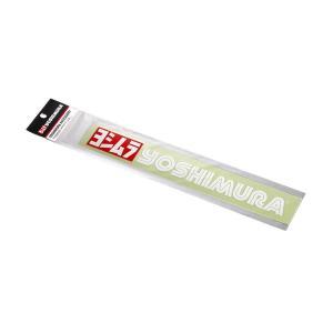 ヨシムラ ヨシムラステッカー 250mm レッド/ホワイト|rubbermark