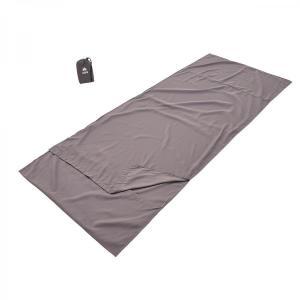 ロゴス 寝袋 抗菌防臭シルキーインナーシュラフ (チャコール) rubbermark