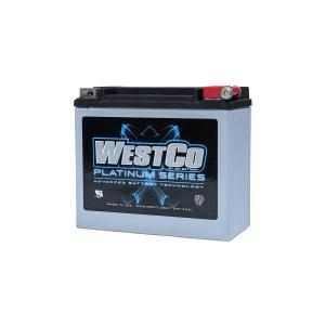 WESTCO(ウエストコ) バッテリー プラチナム Platinum 12V 18Ah YTX20L-BS YB18L-A 相当 ハーレー HARLEY|rubbermark