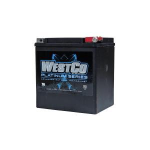 WESTCO(ウエストコ) バッテリー プラチナム Platinum 12V 26Ah YIX30L-BS YB30L-B 相当 66010-97C対応品 ハーレー HARLEY rubbermark
