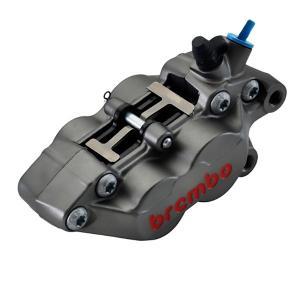 ブレンボ 4ピストンキャリパー 右 キャスティング アノダイズドチタン仕上げ Axial 40mmピッチ 30mm/34mm brembo 20.5165.89|rubbermark