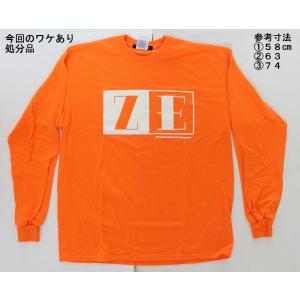 【処分品】 ロングTシャツ オレンジ ZE ロゴ 2XL日本サイズ:5L〜6L相当) 大きいサイズ ゼロエンジニアリング rubbermark