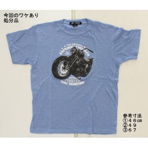 【処分品】Tシャツ ライドフォーエバー ブルー M (日本サイズ:L〜2L相当)ゼロエンジニアリング rubbermark