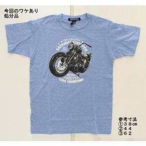 【処分品】Tシャツ ライドフォーエバー ブルー S (日本サイズ:M〜L相当)ゼロエンジニアリング rubbermark