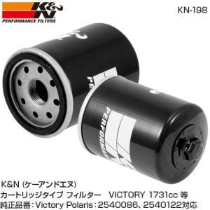 K&N ケーアンドエヌVICTORY  1731cc オイルフィルター ビクトリー バイク用 オイルフィルター ブラック KN-198 在庫処分 rubbermark