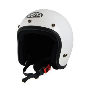 PJ0012 ゴッドブリンク バイク ジェット ヘルメット パイソンジェット PythonJet SOLID WHITE-BLACK SG規格 ZOLTAR|rubbermark