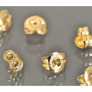 【1個売り】【18金イエローゴールド/K18YG】ピアスのキャッチ(軸径0.8〜0.9mm用)ピアスロック「飾り/貴金属」 rubby