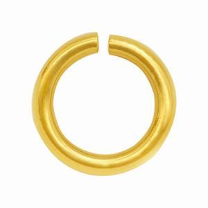 【1個売り】【18金イエローゴールド/K18YG】0.9mm×6.0mmの丸カン(マルカン/丸環)「飾り/貴金属」 rubby