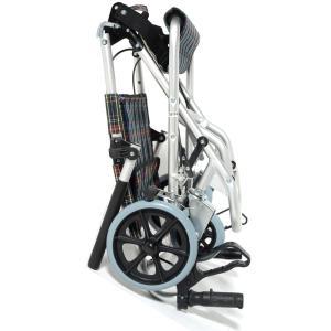 Nice Way(ナイスウェイ) 折りたたみ式 【座面幅約40cm】【車椅子簡易式】【軽量】【コンパクト】【介護・介助用】【車いす】【介助ブレーキ付き】【アルミ】|rubl|02
