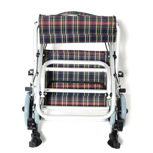 Nice Way(ナイスウェイ) 折りたたみ式 【座面幅約40cm】【車椅子簡易式】【軽量】【コンパクト】【介護・介助用】【車いす】【介助ブレーキ付き】【アルミ】|rubl|03