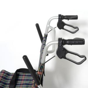 Nice Way(ナイスウェイ) 折りたたみ式 【座面幅約40cm】【車椅子簡易式】【軽量】【コンパクト】【介護・介助用】【車いす】【介助ブレーキ付き】【アルミ】|rubl|04