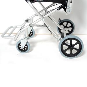 Nice Way(ナイスウェイ) 折りたたみ式 【座面幅約40cm】【車椅子簡易式】【軽量】【コンパクト】【介護・介助用】【車いす】【介助ブレーキ付き】【アルミ】|rubl|05
