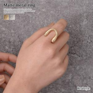 マットメタルホースシューデザインリング レディース アクセサリー 指輪|ruckruck