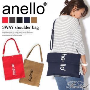 ショルダーバッグ レディース anello アネロ 3way ユニセックス トートバッグ ロゴ 旅行 鞄 クラッチバッグ 大きめ