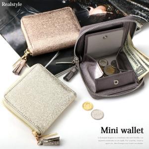 タッセル付き ラウンドファスナー 二つ折り財布 レディース 財布 ミニ財布 極小財布|ruckruck