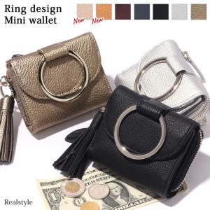 財布 レディース リング ミニウォレット 雑貨 小物 短財布 二つ折り 小銭入れ コインケース ミニ財布 小さい財布 フラグメントケース|ruckruck