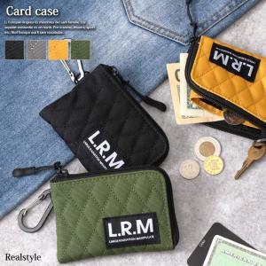 カラビナ付き キルティング カードケース メンズ レディース カード収納 カード入れ 小銭入れ コインケース|ruckruck