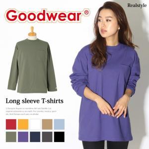 Goodwear グッドウェア 長袖 Tシャツ ゆったり 大きいサイズ ビッグ Tシャツ ロンT メンズ レディース トップス インナー|ruckruck