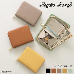 財布 レディース 二つ折り 小さめ Legato Largo レガートラルゴ ラウンドファスナー ブランド 小銭入れ カード入れ ボックス型 ミニ|ruckruck