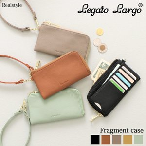 カードケース Legato Largo レガートラルゴ ストラップ付き L字ファスナー フラグメントケース レディース 小銭入れ|ruckruck