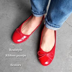 バレエシューズ 黒 リボン レディース フラットシューズ パンプス ぺたんこ 痛くない 疲れない 歩きやすい ローヒール 靴 大きいサイズ おしゃれ オフィス|ruckruck