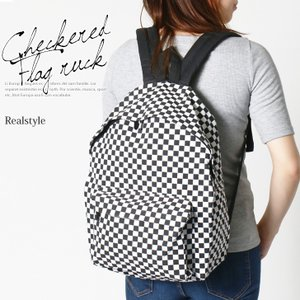 リュックサック アウトレット バッグ 鞄 カバン レディース メンズ 通学 学生 アウトドア レジャー 旅行 A4 シンプル チェック|ruckruck