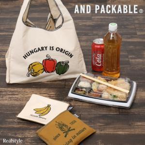 コンビニマルシェバッグ エコバッグ 買い物袋 アンドパッカブル メンズ レディース AND PACKABLE トートバッグ ハンドバッグ ruckruck