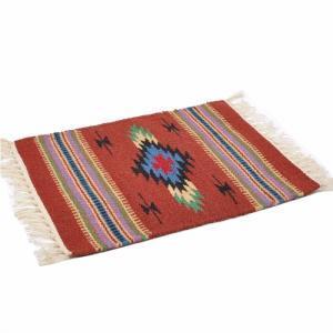 エルパソサドルブランケット (El Paso SADDLEBLANKET) Wool Chimayo Style/ウールラグ素材プレースマット[約51×38cm]BROWN【得トクセール】|rugforest