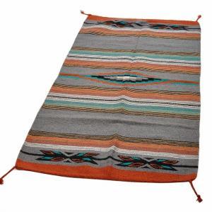 エルパソサドルブランケット (El Paso SADDLEBLANKET) Feather Hawk-Eye Rugs/ラグマット[約163×81cm]GRAY rugforest