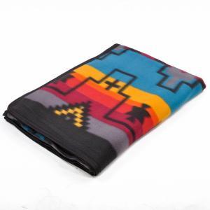 エルパソサドルブランケット (El Paso SADDLEBLANKET) Fleece Lodge Blanket フリースロッジブランケット[約203×152cm]01.TURQUOISE|rugforest
