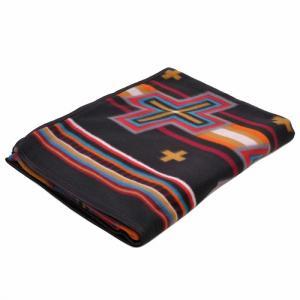 エルパソサドルブランケット (El Paso SADDLEBLANKET) Fleece Lodge Blanket フリースロッジブランケット[約203×152cm]07B.BLK|rugforest