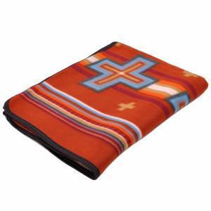 エルパソサドルブランケット (El Paso SADDLEBLANKET) Fleece Lodge Blanket フリースロッジブランケット[約203×152cm]08.RUST|rugforest