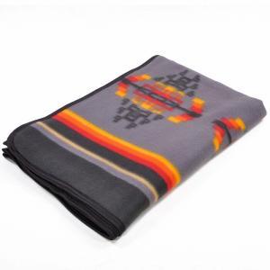 エルパソサドルブランケット (El Paso SADDLEBLANKET) Fleece Lodge Blanket フリースロッジブランケット[約203×152cm]09.GRAY|rugforest