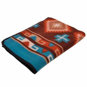 エルパソサドルブランケット (El Paso SADDLEBLANKET) Fleece Lodge Blanket フリースロッジブランケット[約203×152cm]15.BROWN|rugforest