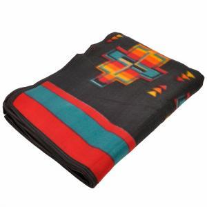 エルパソサドルブランケット (El Paso SADDLEBLANKET) Fleece Lodge Blanket フリースロッジブランケット[約203×152cm]26A.BLK|rugforest