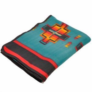 エルパソサドルブランケット (El Paso SADDLEBLANKET) Fleece Lodge Blanket フリースロッジブランケット[約203×152cm]26B.TEAL|rugforest