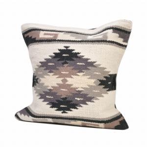 エルパソサドルブランケット (El Paso SADDLEBLANKET) Wool Maya Modern/ウールラグ素材クッションカバー[約46×46cm]29.WHT rugforest