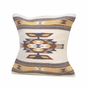 エルパソサドルブランケット (El Paso SADDLEBLANKET) Wool Maya Modern/ウールラグ素材クッションカバー[約46×46cm]31.NATURAL/BEIGE rugforest