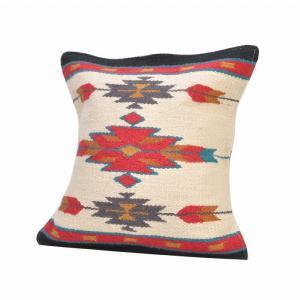 エルパソサドルブランケット (El Paso SADDLEBLANKET) Wool Maya Modern/ウールラグ素材クッションカバー[約46×46cm]33.NATURAL rugforest