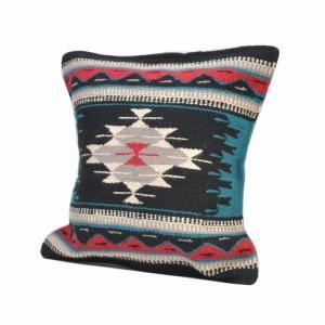 エルパソサドルブランケット (El Paso SADDLEBLANKET) Wool Maya Modern/ウールラグ素材クッションカバー[約46×46cm]36.BLK rugforest