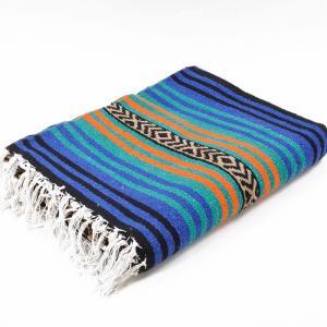 エルパソサドルブランケット (El Paso SADDLEBLANKET) Peyote Blanket/ペヨーテブランケット[約188×142cm]BLUE/ORANGE rugforest