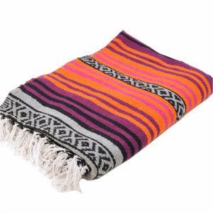 エルパソサドルブランケット (El Paso SADDLEBLANKET) Peyote Blanket/ペヨーテブランケット[約188×142cm]ORANGE/DK.CHERRY|rugforest